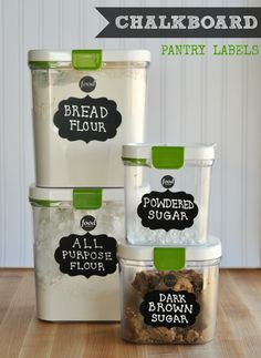 Chalkboard Container Labels for Organizing your Pantry #diy #organizing