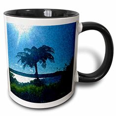 Jos Fauxtographee Realistic - A Palm Tree and on the Shore Line of Ohope Beach in New Zealand over looking The Vivid Blue Water - 11oz Two-Tone Black Mug (mug_48405_4) 3dRose http://www.amazon.com/dp/B01352L2WO/ref=cm_sw_r_pi_dp_eZMvwb1W3JRMQ