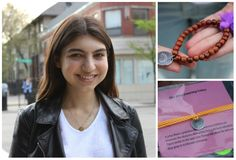 YasmineShafaie, 17, sells bracelets and hosts other events to raise money for underprivileged kids.
