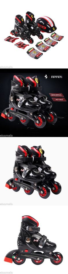 Youth 47345: Adjustable Inline Skates Kids Boys Girls Roller Blades 4 Wheel Boots + Gear Pads -> BUY IT NOW ONLY: $52.99 on eBay!