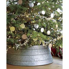 Christmas Tree Decorating Ideas {Tree Skirt Alternatives} - Refunk My JunkRefunk My Junk