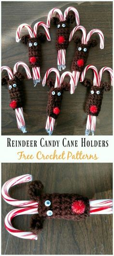 New crochet patterns free christmas candy canes Ideas Crochet Christmas Wreath, Crochet Christmas Decorations, Crochet Decoration, Christmas Crafts, Crochet Christmas Stockings, Christmas Parties, Candy Cane Reindeer, Candy Cane Ornament, Candy Cane Christmas Tree