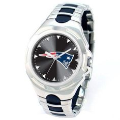 Game Time NFL Men's New England Patriots Victory Series Watch, Silver