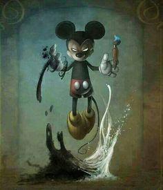 Creepy Kingdom – Graffiti World Disney Horror, Evil Disney, Horror Art, Epic Mickey, Disney Mickey, Mickey Mouse Art, Twisted Disney, Dark Fantasy Art, Graffiti Art