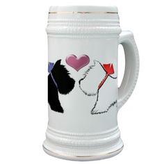 Westie Dog Art Stein