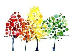 Acuarela ilustraciones del arte de la pared de por jellybeans