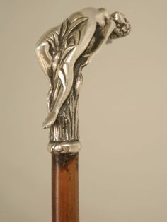 antique french walking sticks | 1890 French Art Nouveau Walking Stick or Cane image 3