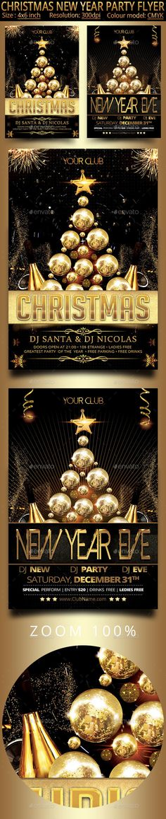 Christmas New Year Party Flyer Template PSD #design #xmas Download: http://graphicriver.net/item/christmas-new-year-party-flyer/13498451?ref=ksioks