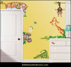 Jungle Room Kids Wall Appliques Removable reusable 21 pieces 02562 * See this great product. (This is an affiliate link and I receive a commission for the sales) Large Wall Decals, Animal Wall Decals, Kids Wall Decals, Nursery Wall Decals, Art Wall Kids, Wall Murals, Wall Art, Wall Vinyl, Vinyl Art