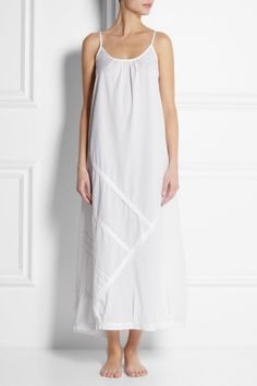 Donna Karan Sleepwear|Paneled cotton nightdress