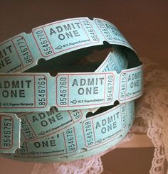 RESERVED FOR N... Admit One... 200 Admittance Tickets