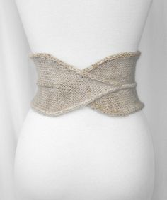 Gorgeous Norobi Knit Belt with I-cord detailing. LOVE. (Free Pattern!)