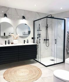 Home Sweet Home: These are the biggest home decor trends of .- Home Sweet Home: Dies sind die größten Wohnkultur-Trends des Jahres – … Home Sweet Home: These are the biggest home decor trends of – Bathroom furnishings – - Bathroom Styling, Bathroom Interior Design, Modern Bathroom Design, Interior Modern, Modern Design, Modern Marble Bathroom, Marble Bathrooms, Kitchen Interior, Timeless Design