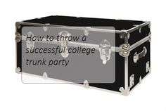 I'm having my college trunk party this weekend and I wanted to share the steps I took to plan the party. Step 1: Picking the date Ideally you want to choose a date that is 2-3 weeks before your mov...