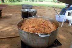 Cooking up a LOT of rice for the camp kids.