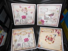 Cards made from Botanic and Paradise collections