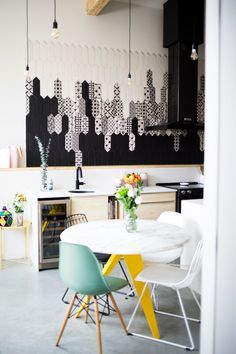 Lifestyle blogger Maca Atencio shares this modern Montreal home with her husband Esteban and kids Nico and Oli.