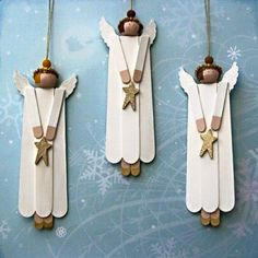 Aren't these cool. Made from thin and wide popsicle sticks and some miscellaneous you probably already have in your craft stash. Start with two thin (these will be the feet) and place them si…