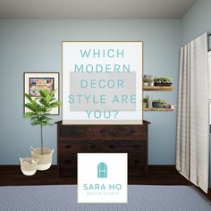 Do you want to know what your modern décor style is? Take this quiz to find out! Modern Farmhouse, Modern California, Modern Eclectic, Modern Mountain, Modern Boho, Modern or Contemporary. Get inspired with design tips and curated Pinterest boards just for your style! #stylequiz #homedecor #interiordesign
