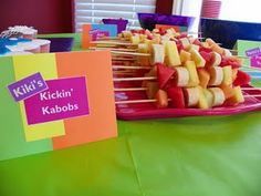 Fresh Beat Band party - good snack for the kids