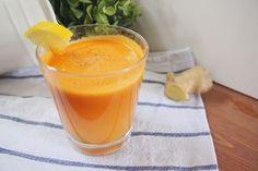 Jedna sklenice tohoto nápoje zbaví vaše tělo toxinů   Pražanda.cz Ginger Juice, Beverages, Drinks, Healing Herbs, Non Alcoholic, Health Advice, Health Diet, Natural Remedies, Smoothies