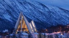 Tromso (Tromsø) in Norway is a magnetic place with unique things to see and do. Historic buildings, Arctic explorers and the Northern Lights. Stuff To Do, Things To Do, Arctic Explorers, Tromso, Cathedral Church, Norway, Northern Lights, Cruise, How To Find Out