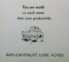 antikapitalistische Liebe Notizen Postkarte