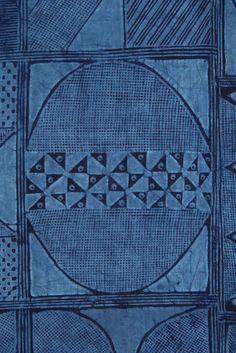Africa | Adire Eleko from the Yoruba people of Nigeria. Circa 1960. Cotton