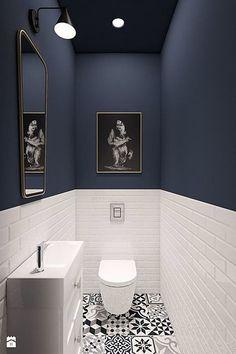 lavabo branco e azul #HomeDecorColors