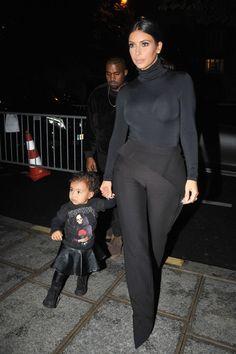 Kim Kardashian Lifestyle — North's so damn cute (Paris Fashion Week, 2015)