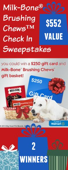"""Like"" if you want to win a $250 Walmart gift card? How would you spend it? It's part of the ‪#‎MilkBone‬ Gift Basket prize in this sweeps!  ENTER NOW http://freebies4mom.com/milkbone ‪#‎ad‬ (ends Feb. 6, 2015)"