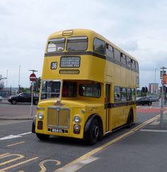 Leyland bus from Bournemouth Corporation Transport. Hospital Architecture, Blue Bus, Double Decker Bus, Bus Coach, Bournemouth, Busses, Commercial Vehicle, Caravans, Childhood Memories