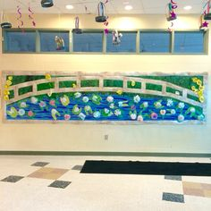 Monet inspired water lily bulletin board