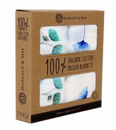 Organic Swaddle Blankets - Ginkgo & Dandelion