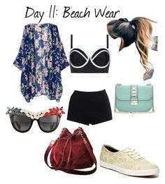 """""""Day 11: Beach Wear"""" by betancourtosusy on Polyvore featuring WithChic, Cactus, Keds, Anna-Karin Karlsson, Valentino and Chanel"""