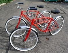 Side-by-Side Bicycle Built for Two Saw this design being ridden solo! love it!