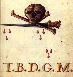 Mutus Liber Latomorum Macabre Art, Danse Macabre, Vintage Tattoo Design, Medieval Drawings, Dance Of Death, Esoteric Art, Traditional Tattoo Flash, Occult Art, Ancient Symbols