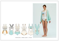 Fashion Design Portfolio by Charlotte Ham, via Behance - structure