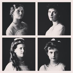 A collage/edit of the last daughters of Nicholas II in 1913 by tsarevnamarie from Instagram
