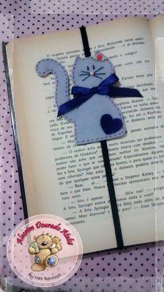 Marcador de páginas #felt #feltro #cat #alecrimdouradoatelie