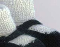 black and white mary jane alpaca booties