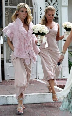 Pretty in Pink Jessica Simpson's Bridesmaid Dress