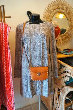 Perfectly styled for a Monday like today!!   Available at Le Toko / Tropical Vintage | Jl. Drupadi - Bali #letoko #tropicalvintage #dress #kaftan #leatherbag #fashion #letoko