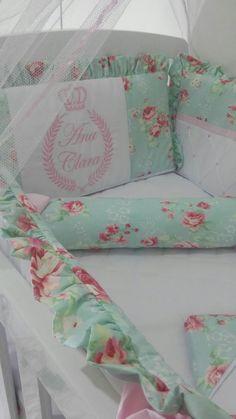 Kit Mini Berço Canaã Floral Verde R$ 500,00