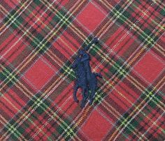 Polo By Ralph Lauren Tie Woven Cotton Plaid Tartan Pattern Red Vintage Designer Pony Dress Necktie Made In USA by InPersona on Etsy