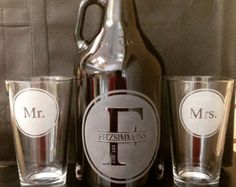 do it yourself wedding centerpieces with growlers - Google Search