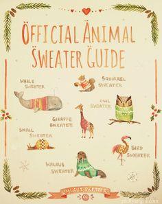 Animal Sweater Guide, by Jenn Hall
