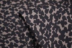 Italian designer camel/black printedstretch woven cotton/elastane Width: 140cm Perfe...
