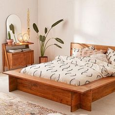 Urban Outfitter's Latest Bedroom Collection Is An Updated Take On '70s Boho. With furniture and accessories, boho design ideas will be plenty. The smooth lines are grounded in mid century modern style, the natural woods and light colors bring the collection a bohemian vibe.