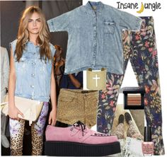 """""""Get the Look: Cara Delivigne"""" by insanejungle on Polyvore"""